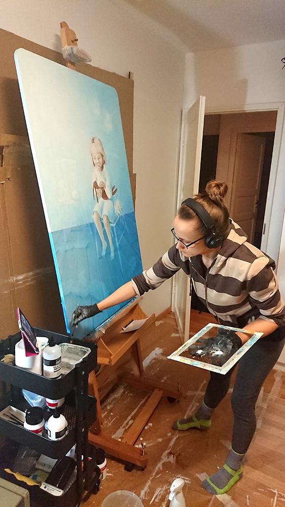 Maalatessa kuuntelin äänikirjoja, podcasteja ja musiikkia