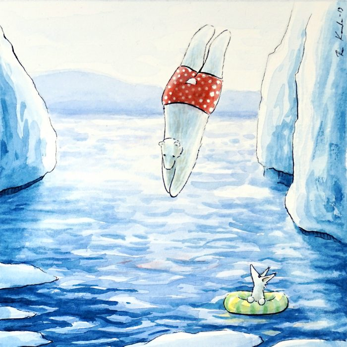 Jääkarhu Janin uimahyppy